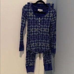 Thermal snowflake pajama set